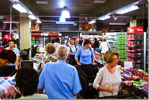 Queue in Woolworths